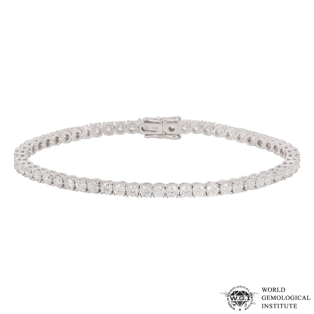 White Gold Diamond Line Bracelet 5.62ct G-H/SI
